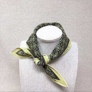 Vintage Triangle Scarf Lime Green for Neck or Hair